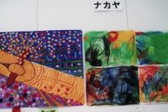 協同作品の絵美術展で銅賞とったよ〜