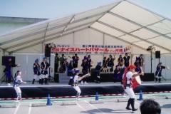 毎年出演している舞台琉球国際大学の人たちと踊った〜