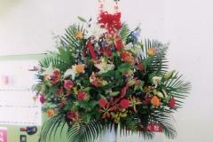 祝二十周年に大きい花をもらいました。