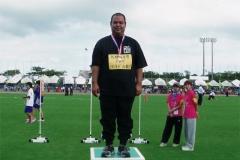 ソフトボール投げに挑戦した生哲さん金メダル取りました!